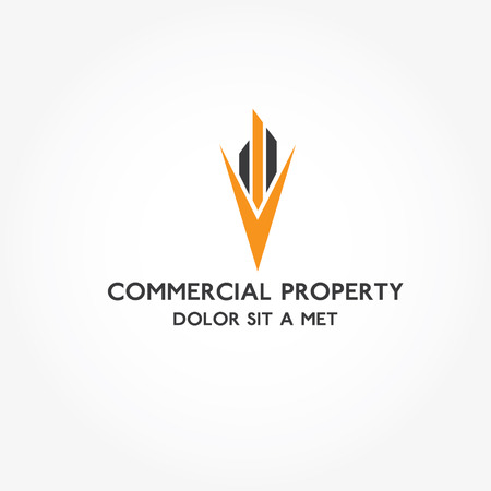 commercial real estate: Real Estate commercial property vector design template