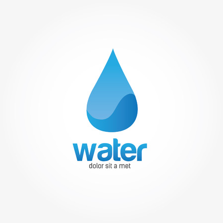 waterdrop: Blue Water drop abstract vector design template Illustration