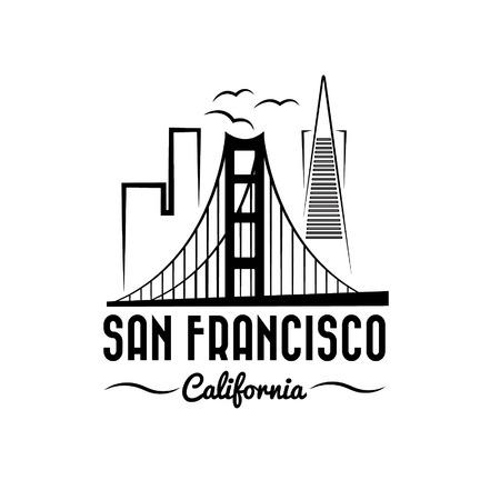 샌프란시스코의 스카이 라인 그림 스톡 콘텐츠 - 31725428