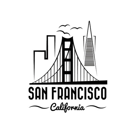 san francisco skyline illustration Vector