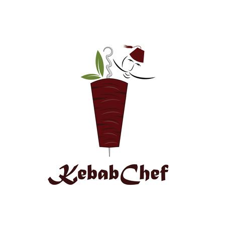 kebab chef illustration Vector
