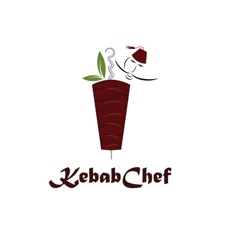kebab chef illustration Vector