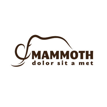 mammoth: mammoth outline illustration