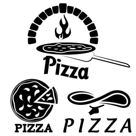 set for pizzeria or Italian restaurant Vectores
