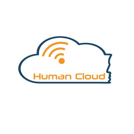 human cloud concept Vector