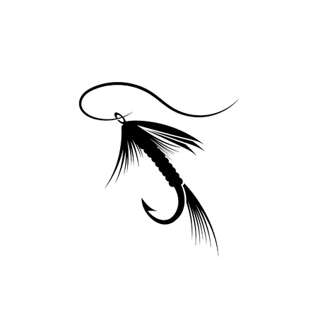 Fly fishing lure Ilustrace
