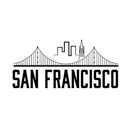 francisco:  San Francisco skyline illustration