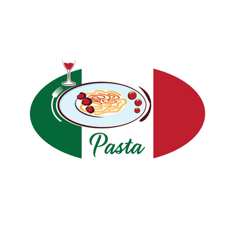 italian pasta: pasta italiana Vectores