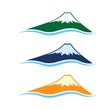 pyramid peak: set of high mountains Illustration
