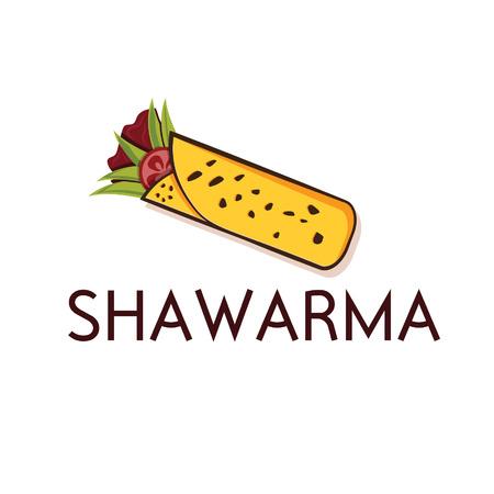 kabob: shawarma vector design template