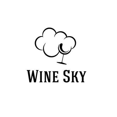 wine sky illustration Vector