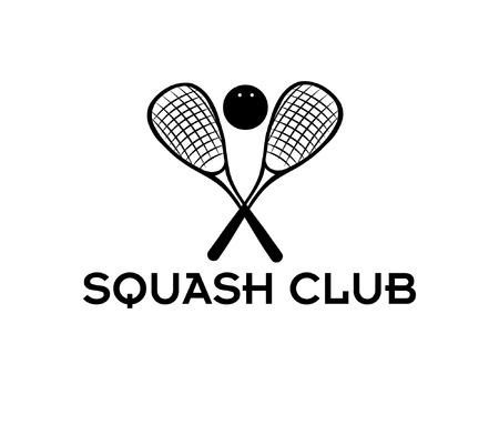 squash club illustration Vector
