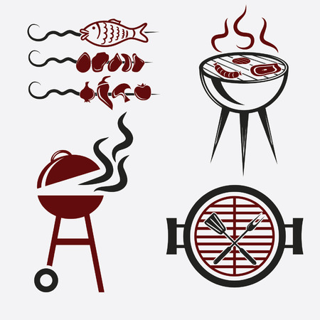 bbq set  Illustration