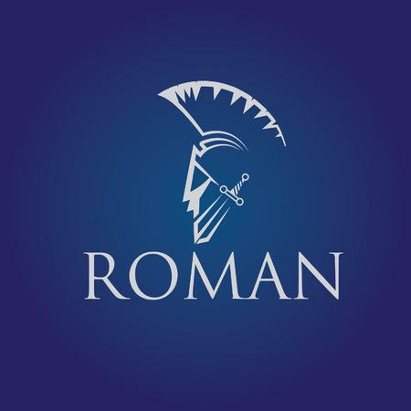 Old Vintage Antiques Roman warrior  vector design template
