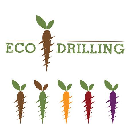deep drilling: eco drilling Illustration