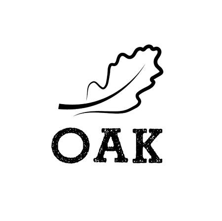 oak leaf vector design template