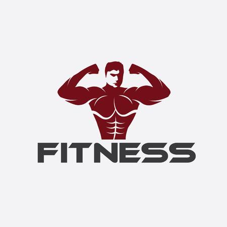 discs: Bodybuilder Fitness Model Illustration