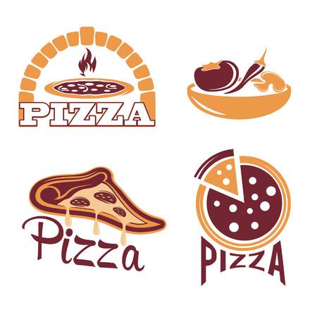 set for pizzeria or Italian restaurant Illustration