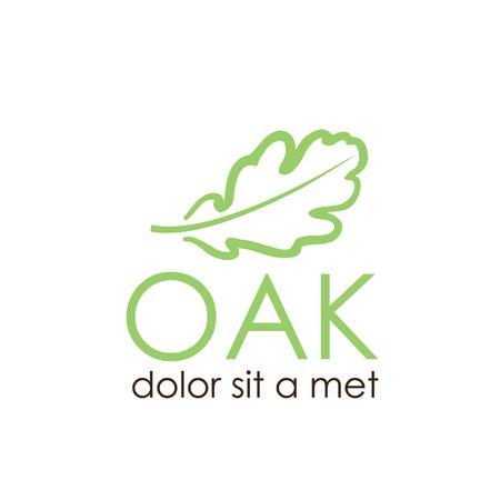 quercus: oak leaf vector design template