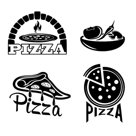 set for pizzeria or Italian restaurant Vector