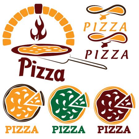 wood burner: set for pizzeria or Italian restaurant Illustration