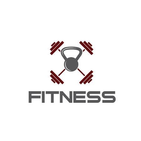 crossbar: kettlebell and barbell fitness illustration