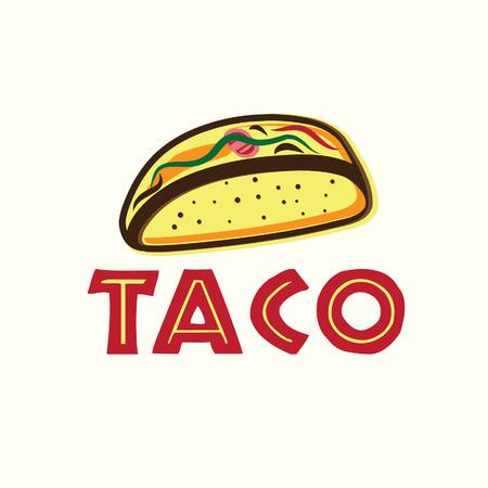 Mexican Taco illustration Vector