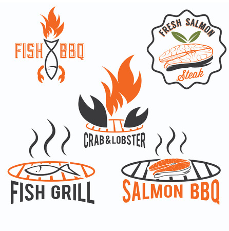 bbq grill: fish and seafood bbq set