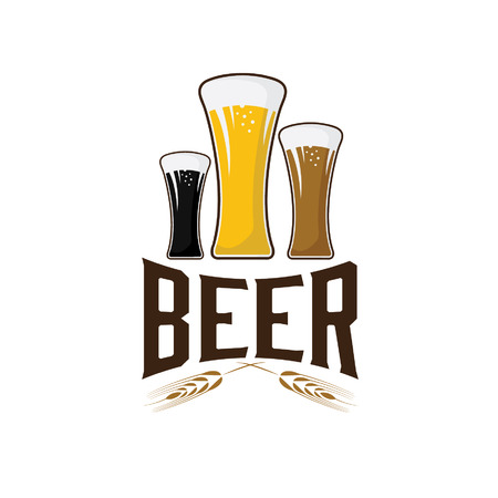 illustration of glasses with beer Vector