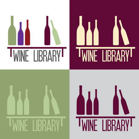 wine library concept Vector