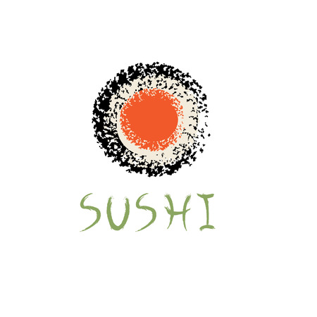 sushi roll: sushi roll abstract vector design template Illustration