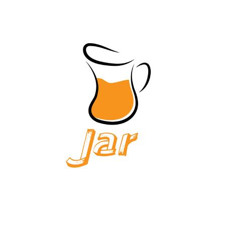 bocal: vaso design template vector