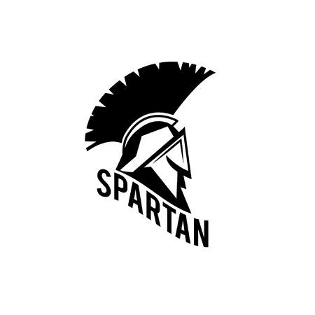 sparta: Alte Weinlese Antiquit�ten Spartan Krieger Vektor-Design-Vorlage Illustration