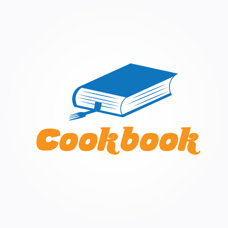 learning to cook: cookbook vector design template Illustration
