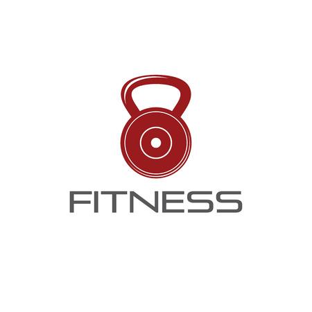 fitness weight vector design template Vector