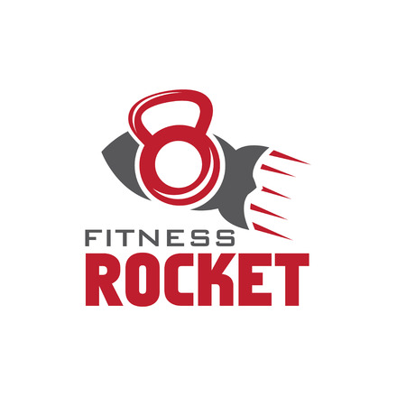 crossbar: rocket fitness concept Illustration