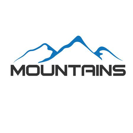 山の抽象的なイラスト  イラスト・ベクター素材