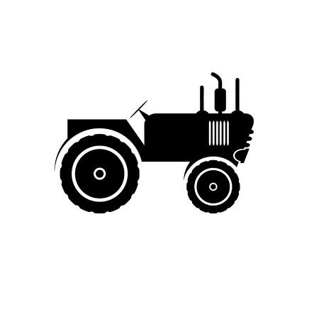 road tractor: Tractor vector icon