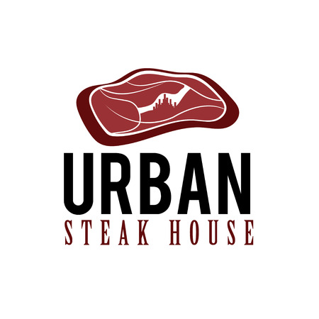 traditional house: urban steak house concept Illustration