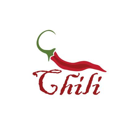 pungent: hot chili pepper vector design template Illustration