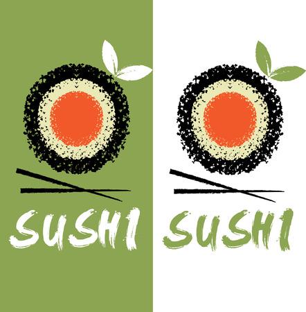 sushi menu: sushi vector design template