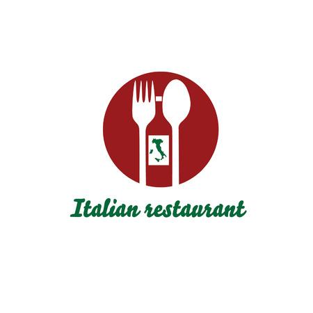 italian restaurant vector design template Vector