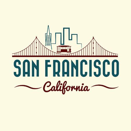 San Francisco Golden Gate Bridge y el tranvía Foto de archivo - 31845275