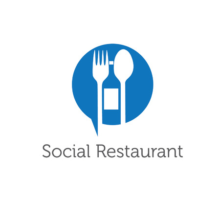 social restaurant vector design template Иллюстрация