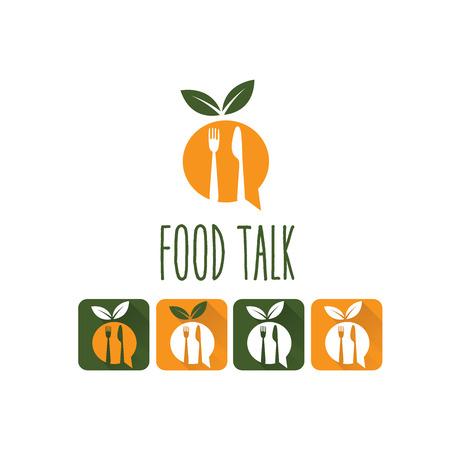 farm fresh: food talk illustration and icon set Illustration