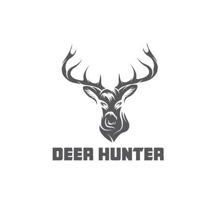鹿ハンターのベクトルのデザイン テンプレート