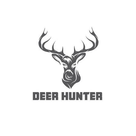 antlers: deer hunter vector design template Illustration