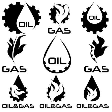 oil and gas industry: oil and gas industry design elements set