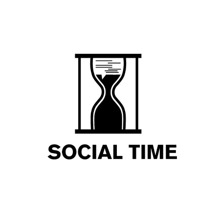 sandglass social time concept Vector