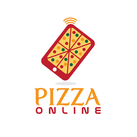 pizza online concept flat design Vector